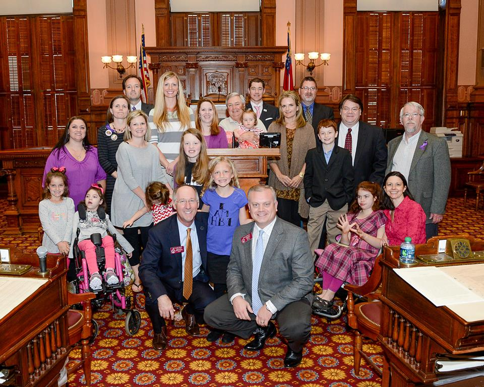 HB 1 group on House floor